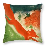 Vintage Hunting In The Ussr Travel Poster Throw Pillow