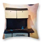 Vintage Kitchen Stove 4 Throw Pillow