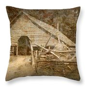 Vintage Looking Old Barn In The Great Smokey Mountains Throw Pillow