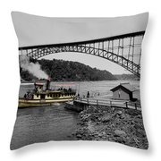 Vintage Maid Of The Mist Throw Pillow