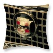 Vintage Nash Auto Grill Throw Pillow