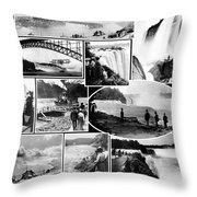 Vintage Niagara Falls Throw Pillow