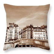Vintage Paris 8 Throw Pillow by Andrew Fare
