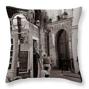 Vintage Paris1 Throw Pillow