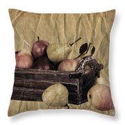 Vintage Pears Throw Pillow by Jane Rix