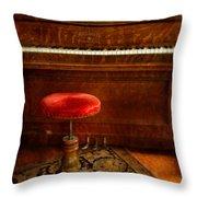 Vintage Piano Throw Pillow