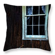 Vintage Porch Window And Gas Can Throw Pillow