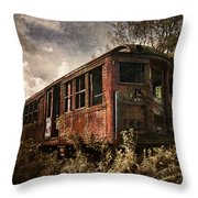Vintage Rail Car Throw Pillow