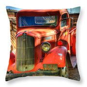 Vintage Red Dodge Throw Pillow