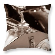 Vintage Rolls Royce 1 Throw Pillow