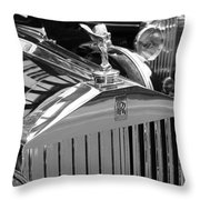 Vintage Rolls Royce 2 Throw Pillow