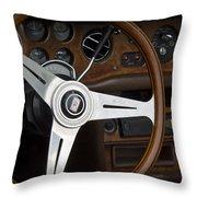 Vintage Rolls Royce Dash Throw Pillow