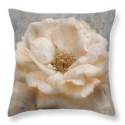 Vintage Rose I Square Throw Pillow