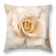 Vintage Rose V Square Throw Pillow