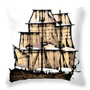 Vintage Sails Throw Pillow