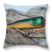 Vintage Saltwater Fishing Lure - Masterlure Rocket Throw Pillow