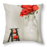 Vintage Sewing Table Throw Pillow