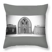 Vintage Shelf Throw Pillow
