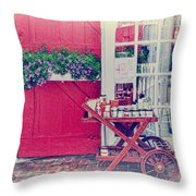 Vintage Store Throw Pillow