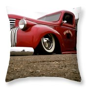 Vintage Style Hot Rod Truck Throw Pillow