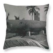 Vintage Submarine Throw Pillow