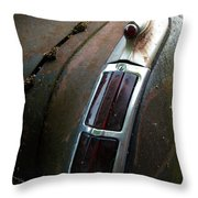 Vintage Tail Light Throw Pillow