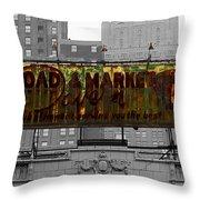 Vintage Tavern Sign Throw Pillow