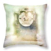 Vintage Train Engine Throw Pillow