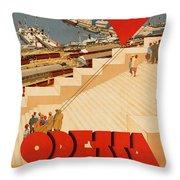 Vintage Ukraine Travel Poster Throw Pillow