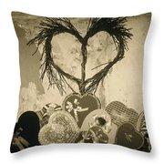 Vintage Valentine  Throw Pillow