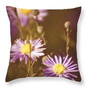 Vintage Violet  Throw Pillow
