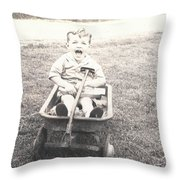 Vintage Wagon Throw Pillow