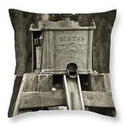 Vintage Water Pump Throw Pillow