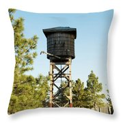 Vintage Water Station Throw Pillow