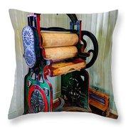 Vintage Wringer Throw Pillow