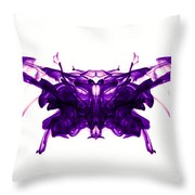 Violet Abstract Butterfly Throw Pillow
