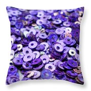 Violet Beads And Sequins Throw Pillow