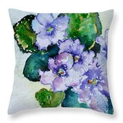 Violet Cluster Throw Pillow