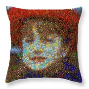 Violet Gumballs Throw Pillow
