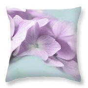 Violet Hydrangea Flower Macro Throw Pillow