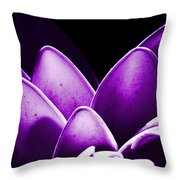 Violet Lotus Throw Pillow