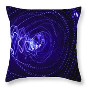 Violet Neon Lights 2 Throw Pillow