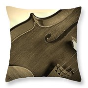 Violin Isolated Throw Pillow