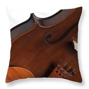 Violin Isolated On White Throw Pillow