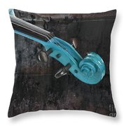 Violinelle - Turquoise 05a2 Throw Pillow