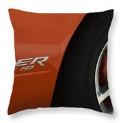 Viper Srt 10 Emblem And Wheel Throw Pillow