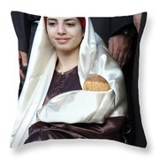 Virgin Mary And Baby Jesus At 4th Annual Christmas March Throw Pillow