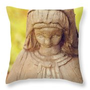 Virgin Mary Statue Throw Pillow