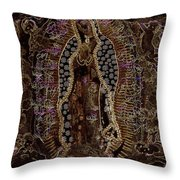 Virgin Of Guadalupe 3 Throw Pillow