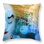 Virginal Shyness Throw Pillow